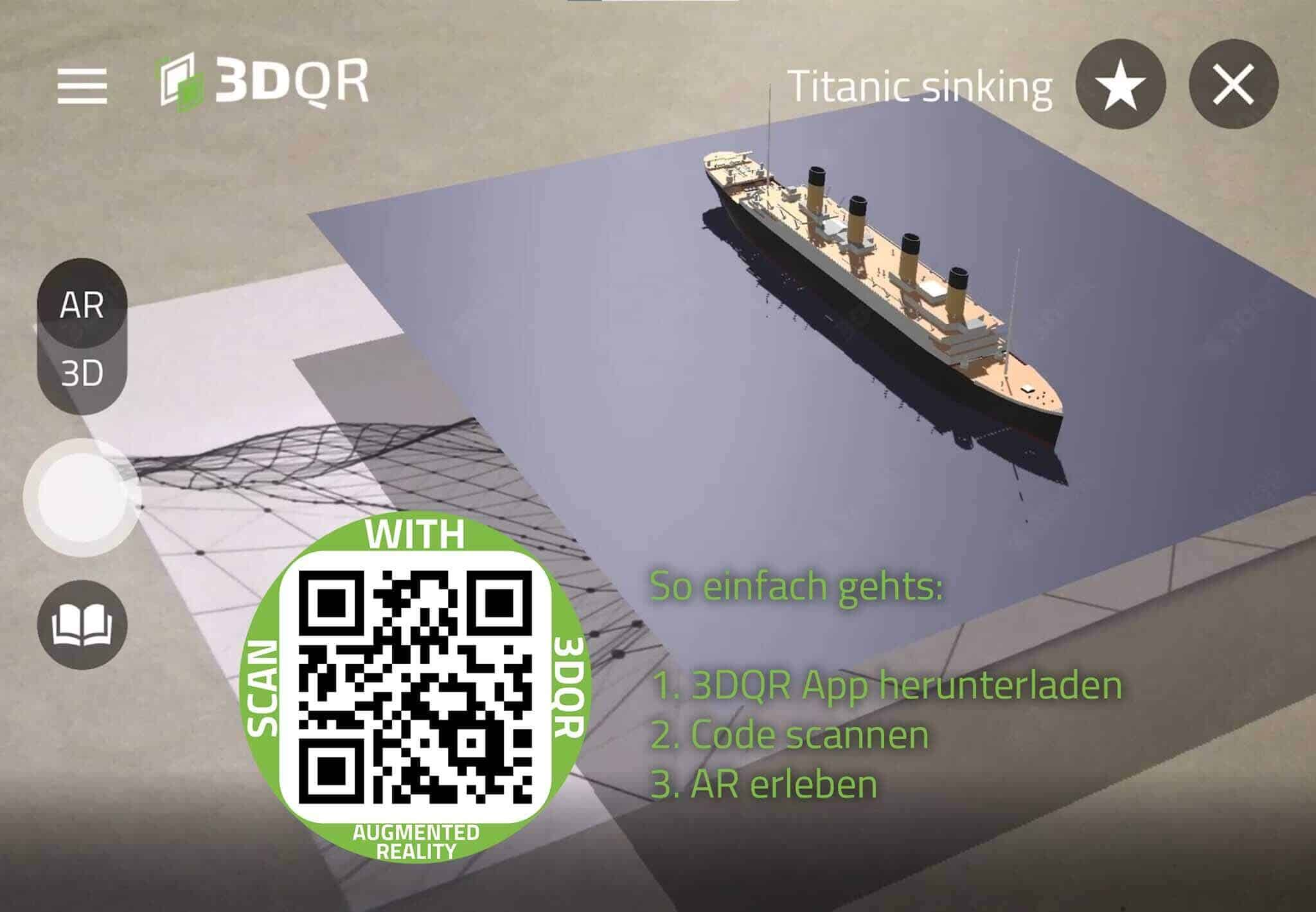 QR-Code mit Titanic Animation