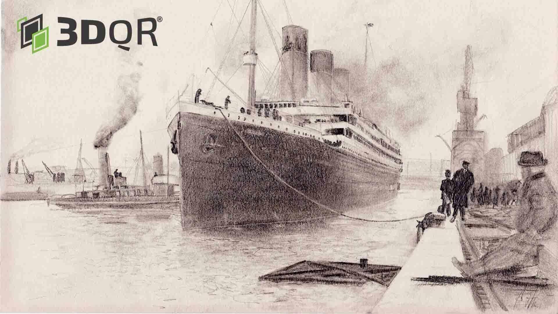 Zeichnung der Titanic