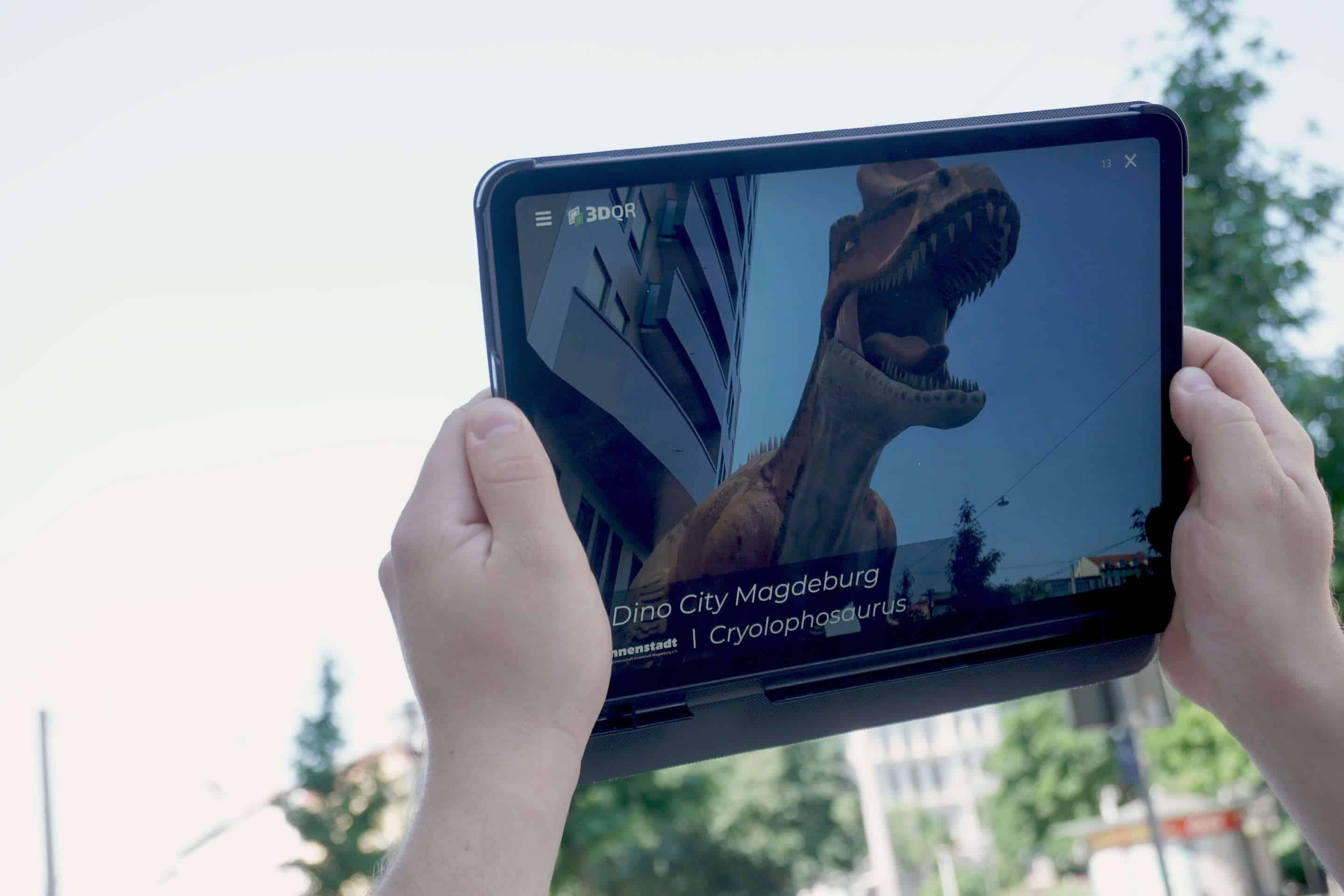 Augmented Reality Anwendung auf dem Tablet