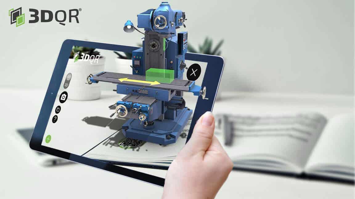 AR Lehrbuch mit NC-Maschine